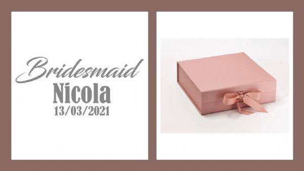 Bridesmaid Large Luxury Personalised Gift Box